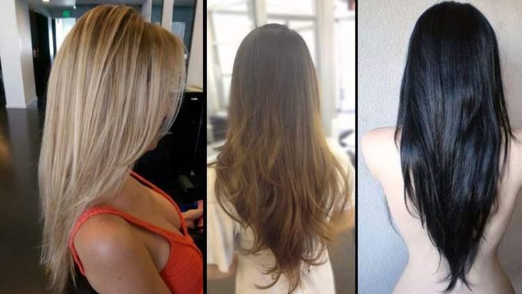 Corte em V é uma das ideias de cortes de cabelo longo