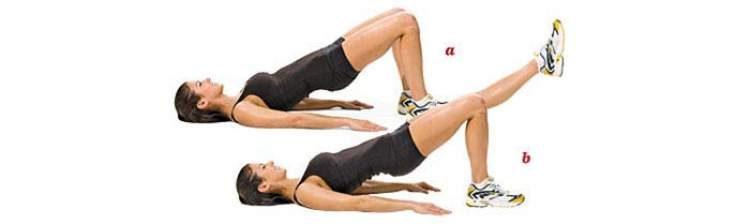 Exercício ponte deitada