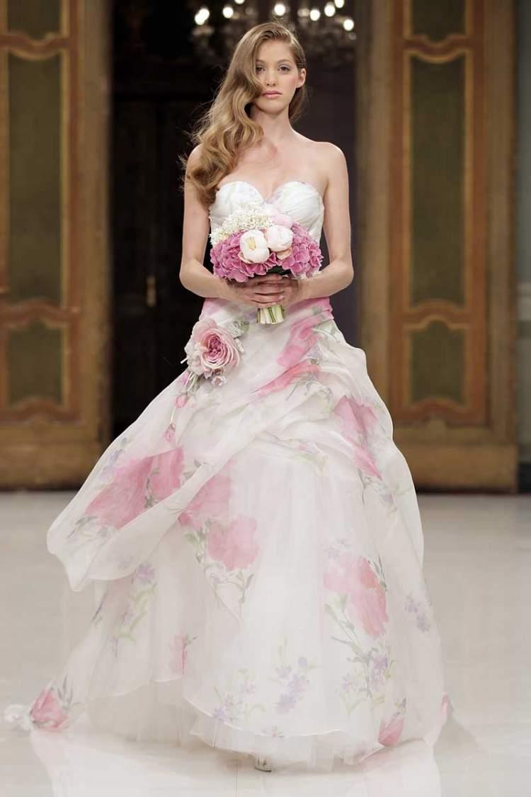 Vestido de Noiva Estampado