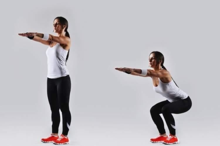 Agachamento é um ótimo exercício para malhar as pernas