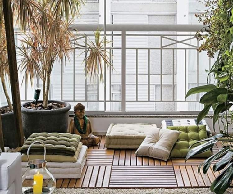 Ideia para decorar a varanda ou sacada