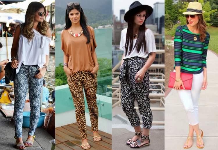 Looks de calças e rasteirinhas