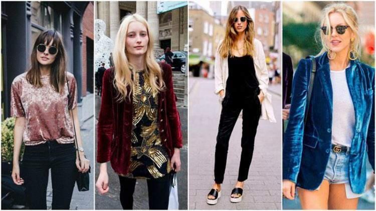 Veludo molhado é uma das apostas da moda para o inverno 2018
