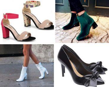 Calçados da moda inverno 2018