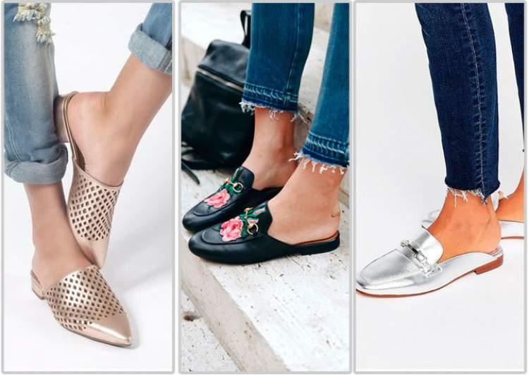 Os calçados mules estão entre as tendências do inverno 2018