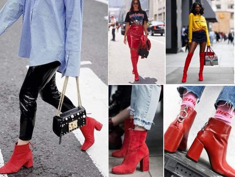 A bota vermelha é uma das peças da moda inverno 2018 para incluir na lista de desejos
