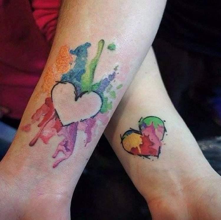 Sugestão de tatuagem para mãe e filha