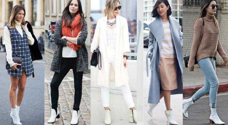 A bota branca é uma das botas que transformam o look