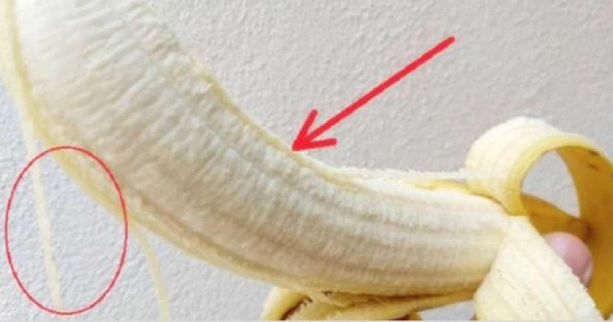 Os benefícios de consumir os fiozinhos brancos da banana