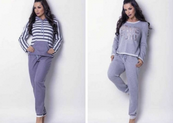 Pijamas e moletons fashion no inverno 2018