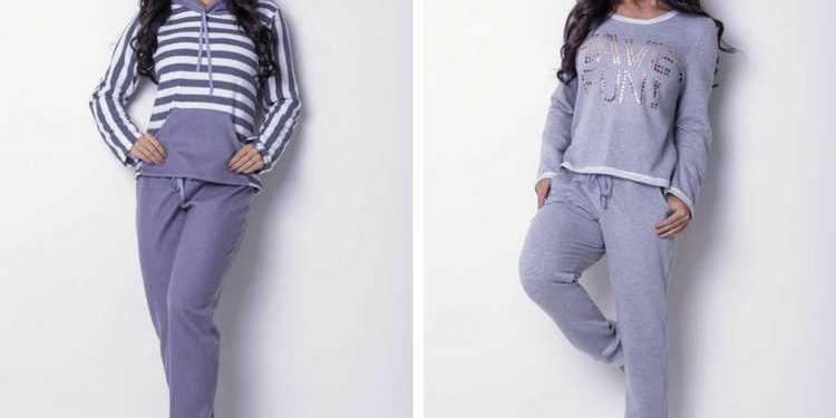 Pijamas e moletons fashion no inverno 2018
