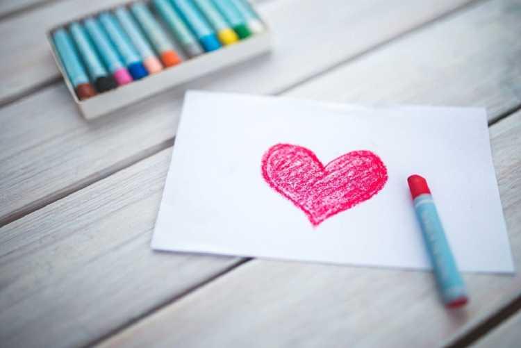 Cartão da cesta para o dia dos namorados