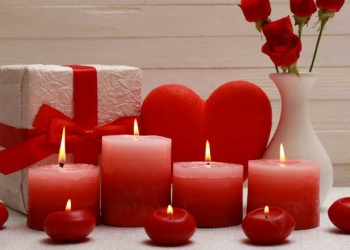Decoração romântica para comemorar o dia dos namorados