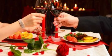 Jantar romântico para celebrar o dia dos namorados
