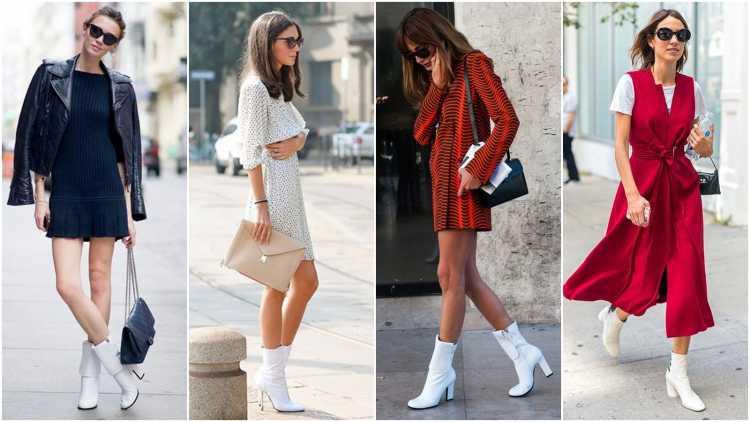 Lindos modelos de botas brancas
