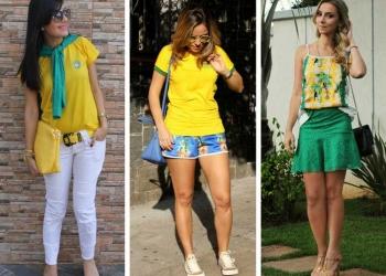 maneiras de criar um look verde e amarelo para torcer pelo Brasil na Copa 2018