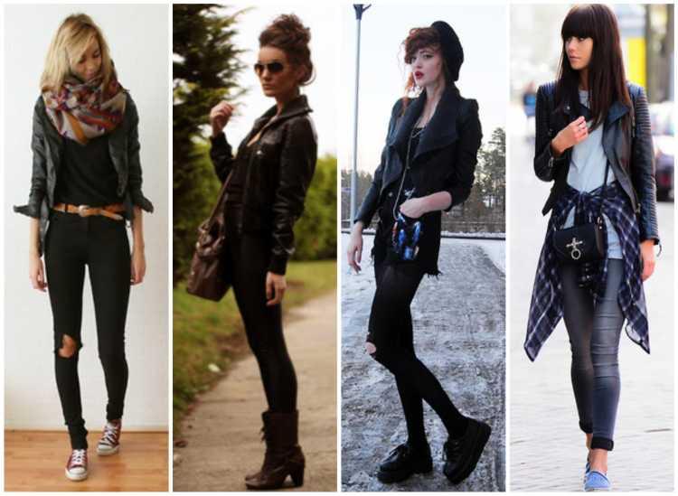 Sugestões de look com jaqueta de couro