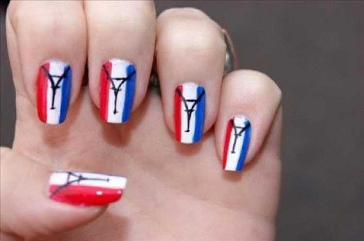 Unhas decoradas para torcer pela França na copa do mundo