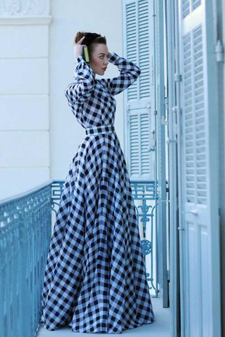 Vestido longo para festa junina
