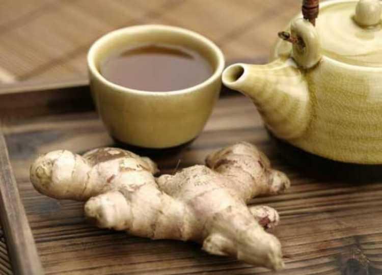 Chá de gengibre para tratar inflamação na garganta