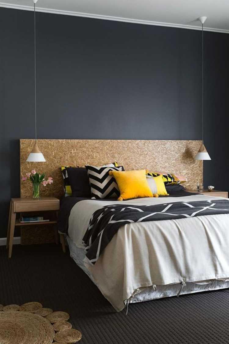 Cabeceira da cama de casal fácil de fazer