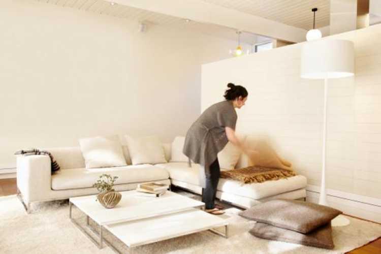 limpeza da sala