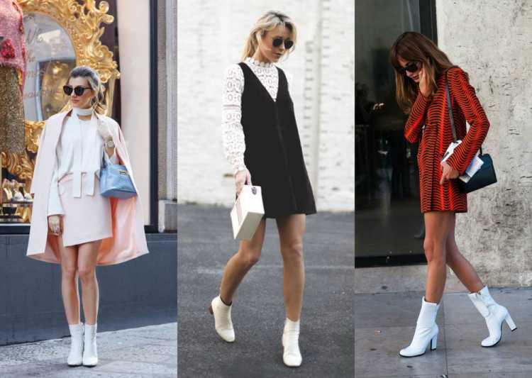 Looks com bota branca estilo anos 60