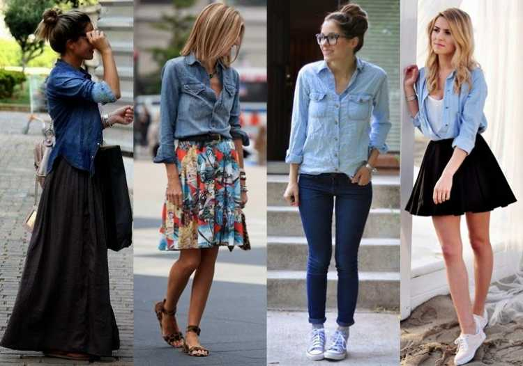 Look com camisa jeans
