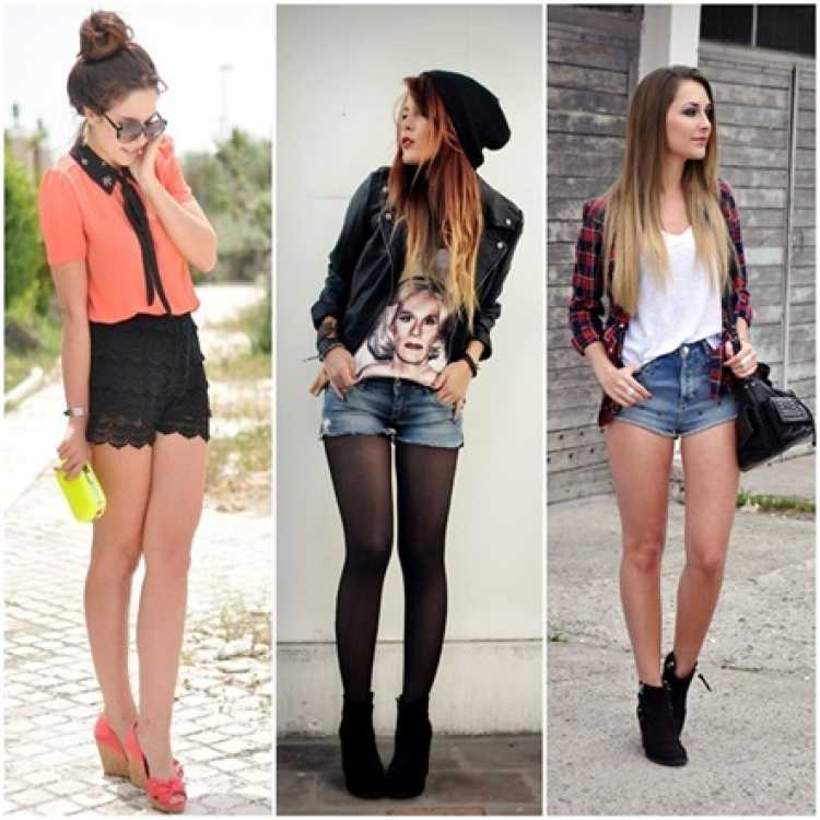 Looks com shortinhos