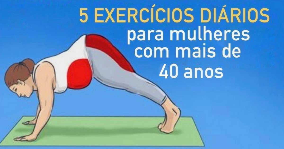Top 5 exercícios para mulheres com mais de 40 anos