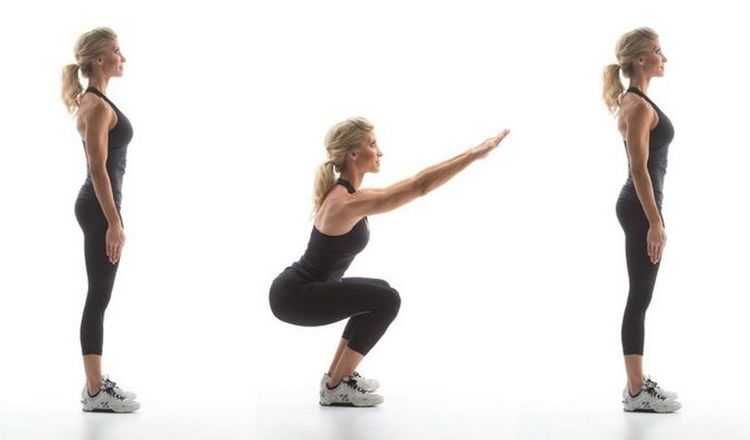 Agachamento é um dos melhores exercícios para mulheres com mais de 40 anos.