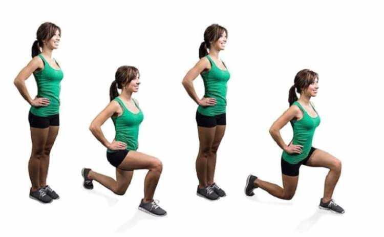 Avanço é um dos melhores exercícios para mulheres com mais de 40 anos.