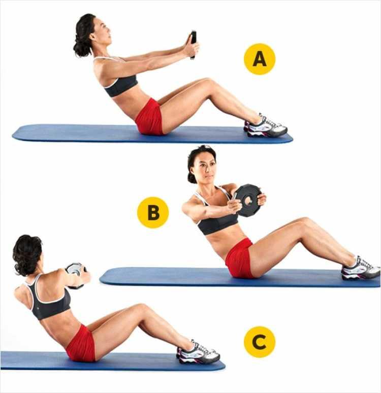 Giro russo é um dos melhores exercícios para reduzir as gordurinhas nas costas e cintura