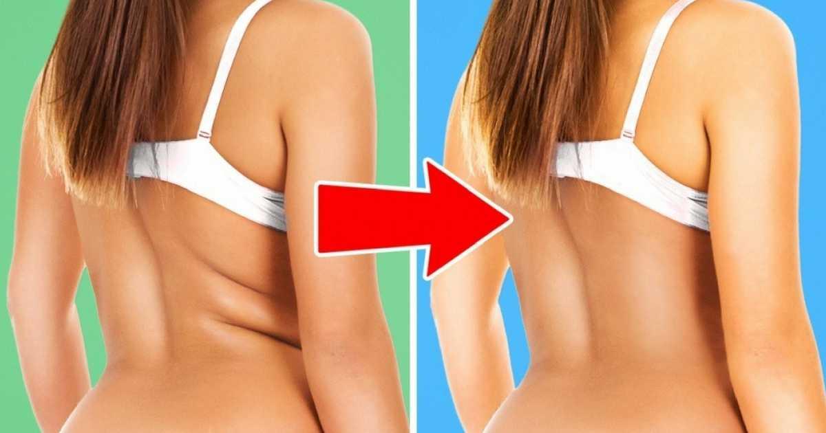 Melhores exercícios para reduzir as gordurinhas nas costas e cintura