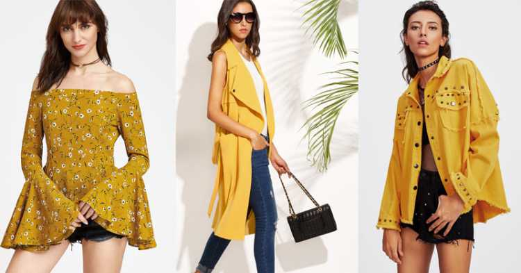 Cor Mostarda é uma das tendências da moda verão 2019