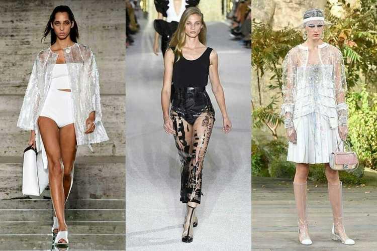 Plástico é uma das tendências da moda verão 2019