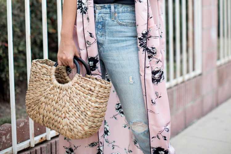 Bolsa de palha para usar no verão 2019