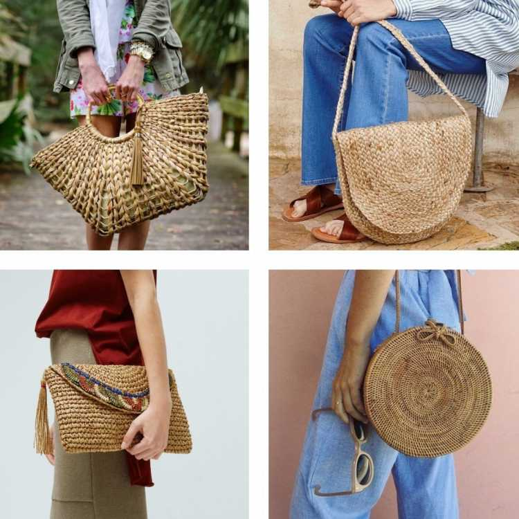 Bolsa de palha é uma das bolsas do verão 2019