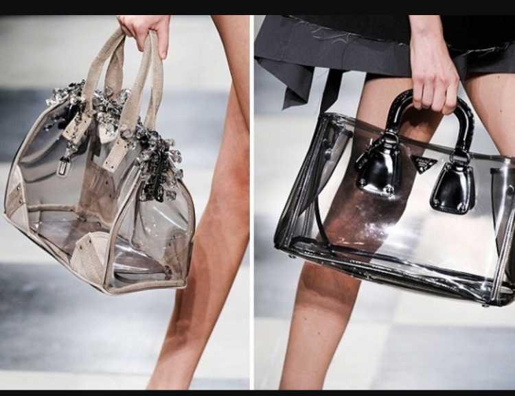 Bolsa transparente é uma das bolsas do verão 2019