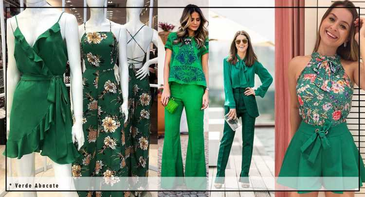 Fluidez verde é uma das tendências de roupas leves para o verão 2019