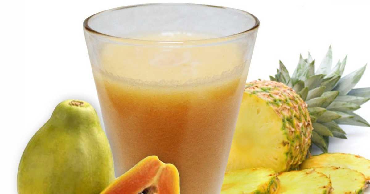Suco de abacaxi com mamão é o combo perfeito para melhorar os sintomas da azia e má digestão