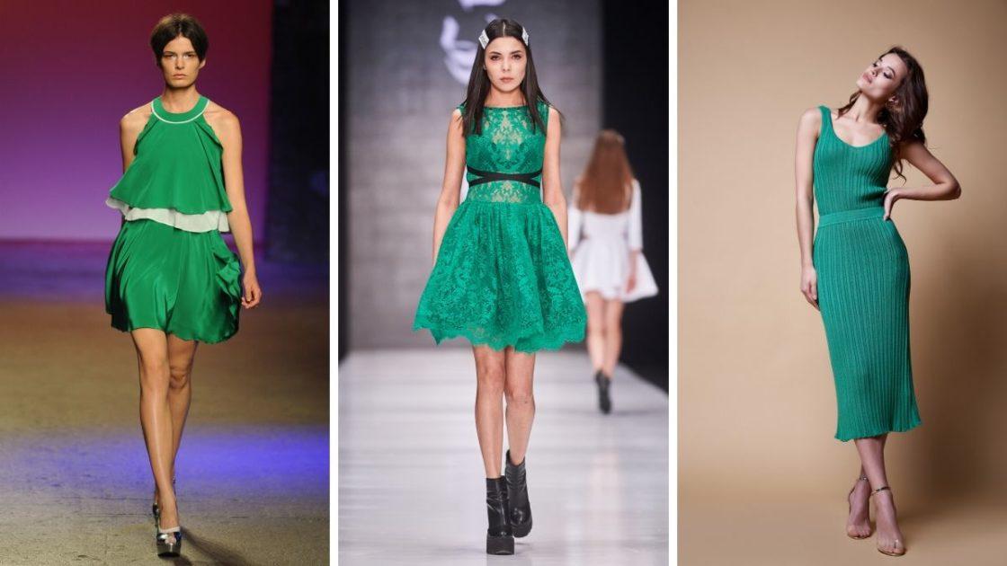 Vestido verde é um dos looks para o Natal