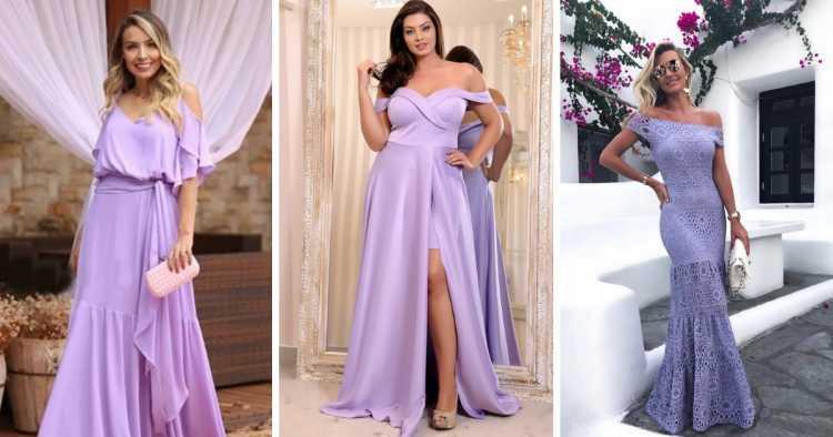 Vestidos lavanda é uma das tendências para madrinhas e formandas em 2019