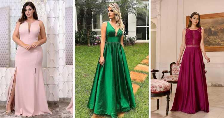 Vestidos minimalistas é uma das tendências para madrinhas e formandas em 2019