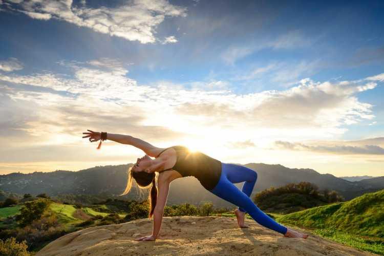exercícios ao ar livre Yoga