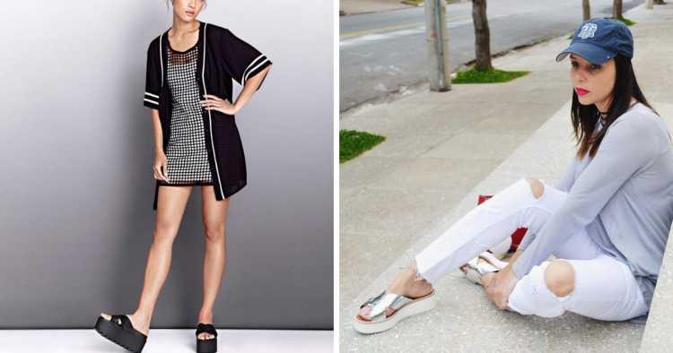 flatform estilo chinelo é tendência no verão 2019