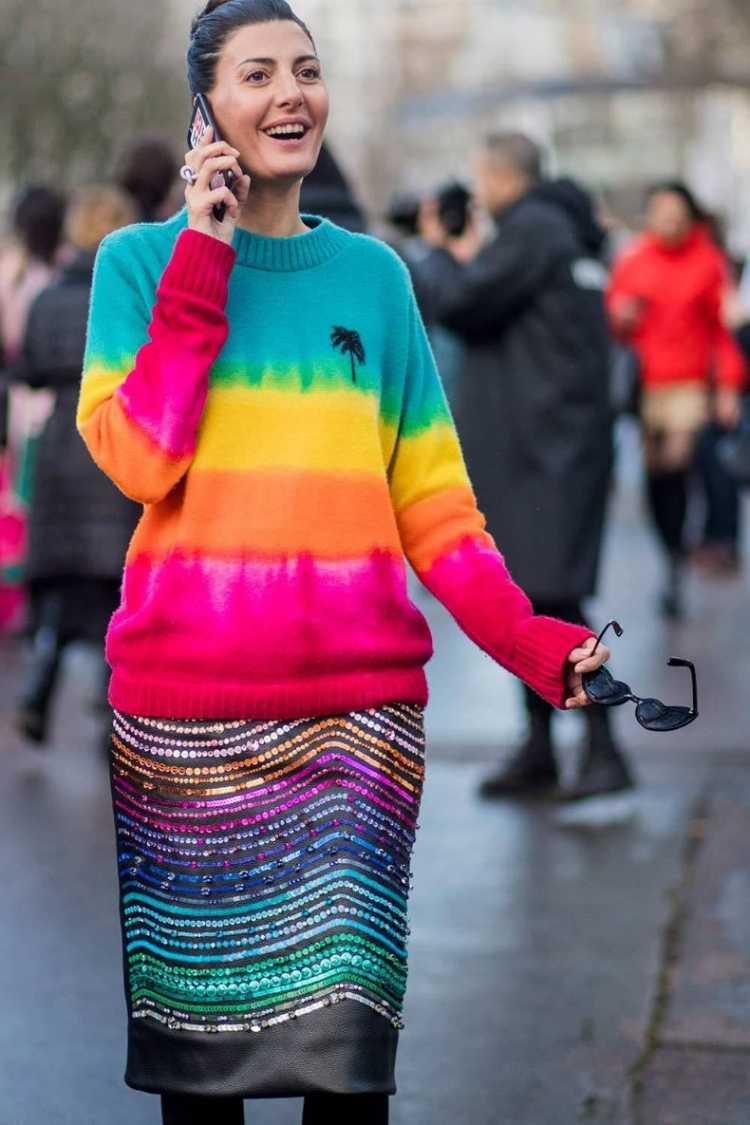 mix de cores com estampa Tie-dye