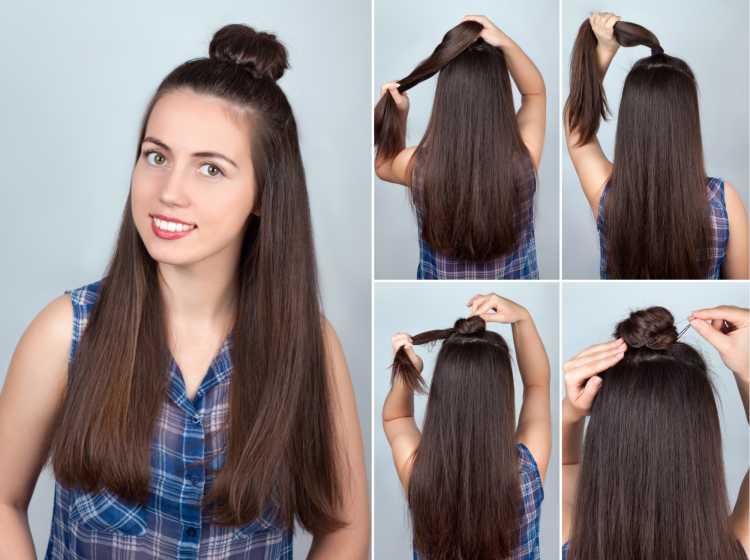 Half bun simples é um dos penteados presos para o carnaval
