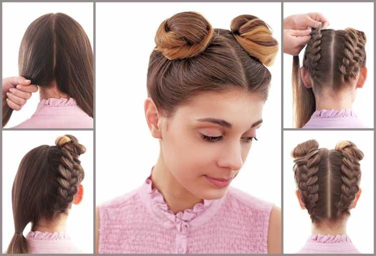 Space buns é um dos penteados presos para o carnaval coque tutorial