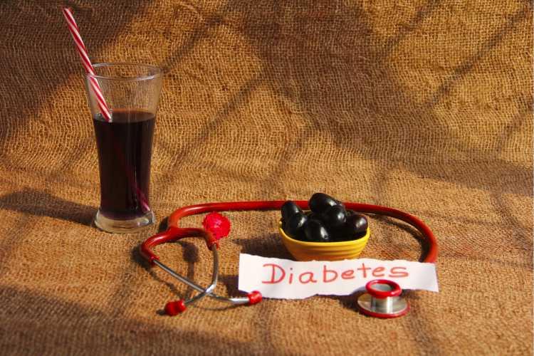 benefícios do jamelão para diabetes